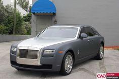 Rolls Royce full wrapped Arlon gunmetal hood satin chrome Nippon by CWD  We do the best car wrap in Miami 786-558-4848 www.cwdwrap.com #3m #cwd #cwdwrap #car #rolls #rollsroyce #cars #chrome #carwrap #wrap #wraps #wrapping #customwrap #customwrapdesign #3m