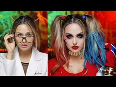 Harley Quinn Suicide Squad Glam Makeup Tutorial - https://www.avon.com/?repid=16581277 Avon Eyebrow Solutions  S N A P C H A T: ChristenSnaps T W I T T E R : ChristenDTweets I N S T A G R A M: ChristenDominique F A C E B O O K: ChristenDominique Harley Quinn suicide squad version is my fav! It was so fun to literally go insane lol. This is the easiest halloween costume you can make it messy or glam either one looks so gewd and super cute! The outfit is easy to put together yo