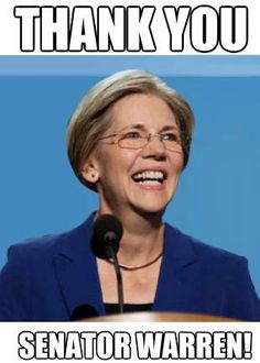 Senator Warren Thank You Letter Elizabeth Warren Jon Stewart Senator Warren Women