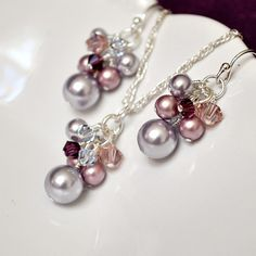 Purple Bridesmaid Jewelry Set