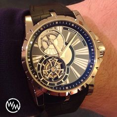 Happy Roger Dubuis Excalibur Single Flying Tourbillon with Micro-Rotar. One of my favorite brands without a doubt. Enjoy!!! by watchmonster from Instagram http://ift.tt/1o4w9Dn