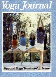 September 1977. How could they practice without fancy yoga pants?