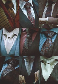 the suits and tie style details from the TV series Hannibal, costumes worn by Hannibal Lecter - so dapper.