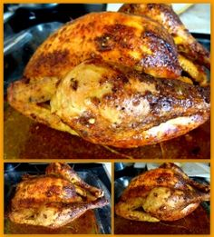 Roasted chicken recipe as a rotisserie: the easy recipe - Recipes Easy & Healthy Best Roast Chicken Recipe, Best Roasted Chicken, Lemon Garlic Chicken, How To Cook Chicken, Frango Chicken, Healthy Dinner Recipes, Cooking Recipes, Food And Drink, Easy Meals