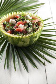 Salada de rúcula com melancia e quaeijo TeleCulinária 1890 especial de Julho - 29 de Junho 2015 - Disponível em formato digital: www.magzter.com Visite-nos em www.teleculinaria.pt