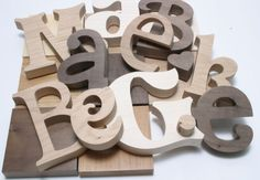 Wooden Letters | Wood Letters | Wooden Numbers  Great place to get any letter, word, monogram, in any font, size, thickness you want.