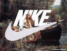 Des oeuvres d'arts et des peintures détournées par le logo Nike