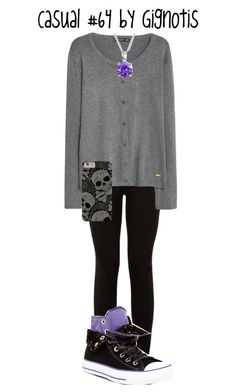 """""""Casual #64"""" by gignotis ❤ liked on Polyvore featuring MANGO, Converse and Bling Jewelry"""