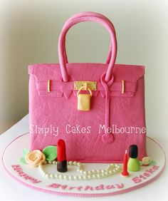 Pink Hermes Bag Cake by Simply Cakes