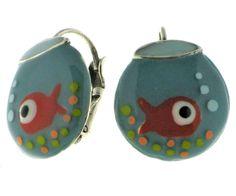 """Boucles d'oreilles Taratata """"Aquarium"""" : des bijoux ludiques et colorés. http://www.bijouterie-influences.com/Boucles-doreilles-fantaisie/14040-Boucles-doreilles-TARATATA-aquarium-.html"""