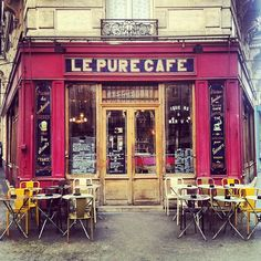 Move over Starbucks . Places Around The World, Oh The Places You'll Go, Cafe Concert, Café Restaurant, Sidewalk Cafe, French Cafe, French Food, Paris Cafe, Montmartre Paris