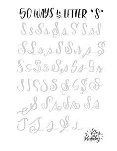 "50 ways to letter - ""S"", handlettering tips Hand Lettering Fonts, Calligraphy Handwriting, Doodle Lettering, Creative Lettering, Lettering Styles, Lettering Tutorial, Calligraphy Letters, Typography Letters, Lettering Design"