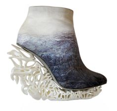 Anastasia Radevich Sculptural Wedge Heel Ankle Boots #Wedges #Shoes #Booties