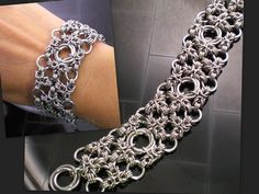 Gorgeous chain mail bracelet.