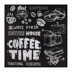 Coffee on Chalkboard Art Print
