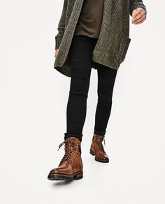 BROWN WORKER BOOTS-Boots and Ankle Boots-SHOES-MAN | ZARA United States