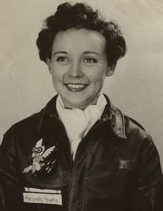 Yvonne Ashcraft Wood, WASP Women In Combat, Leather Flight Jacket, North Platte, Ww2 Uniforms, Female Pilot, Flying Ace, Indian Heritage, Military Women, Blanco Y Negro