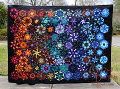 Finished this one up this afternoon. I started it in 2014 when I saw Carla make one very similar during Season 5 of project quilting and wanted to have one of my very own. What put a fire under my
