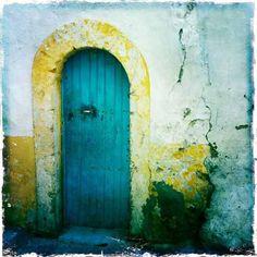 Essaouira: and a tale of Moroccan doors Arched Doors, Windows And Doors, Moroccan Doors, Knobs And Knockers, Cool Doors, Marrakesh, Closed Doors, Doorway, Aqua