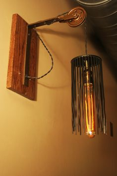 Cage wire pulley light installed at Spirits bar & grill in Dahlonega GA