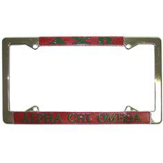 Alpha Chi Omega Sorority License Plate Frame