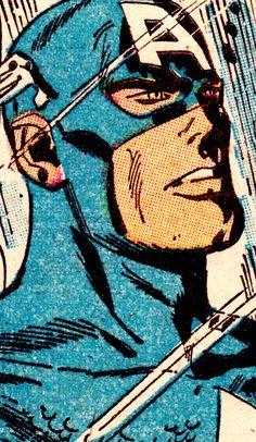 jthenr-comics-vault:  COMIC BOOK CLOSE UP C A P T A I N A M E R I C AThe Avengers #37 (Feb. 1967)Don Heck (Pencils/inks)