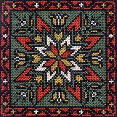 the rose of skatafeld Iceland Cross Stitch Pillow, Cross Stitch Borders, Modern Cross Stitch, Cross Stitch Charts, Cross Stitch Designs, Cross Stitching, Cross Stitch Patterns, Hand Embroidery Stitches, Cross Stitch Embroidery