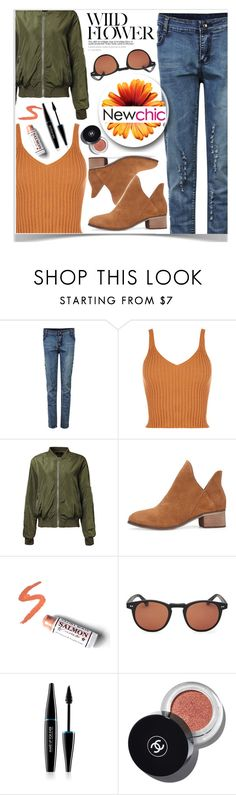 """""""Newchic autumn look ☼"""" by av-anul ❤ liked on Polyvore featuring Buckler, MAKE UP FOR EVER, Chanel, chic, New, newchic and avanul"""