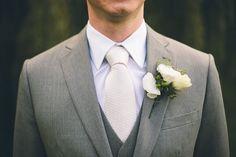 white on grey groom's attire @Mary Powers Powers Powers Powers Smither Palmer