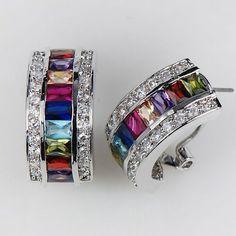 Morganite Blue Topaz Garnet Amethyst Ruby Pink Kunzite Aquamarine 925 Sterling Silver Ring Size Q eERxDvS