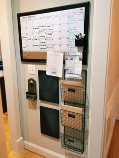 DIY Command Center!  If you like this pin, then please follow us!  Leave comments!  Or visit us!  www.myhappyfamilystore.com