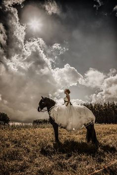 photographer Lasse Baltzer. Bride model and horse