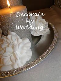 DECORATE MY WEDDING DIY Candle Centerpiece Charger