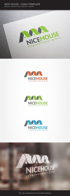 Nice House Logo by Mocca Design, via Behance