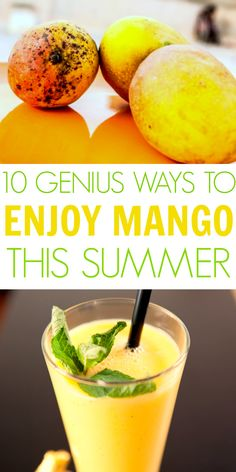 The king of fruits is about to arrive, and now you'll be prepared!  #mango #summer #recipe #creative #drinks