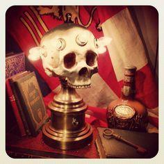 skull lamp...DO WANT!!!!