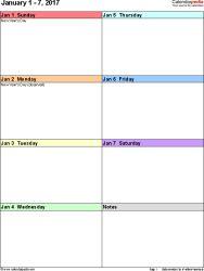 free weekly calendar maker
