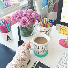 gorgeous feminine office space