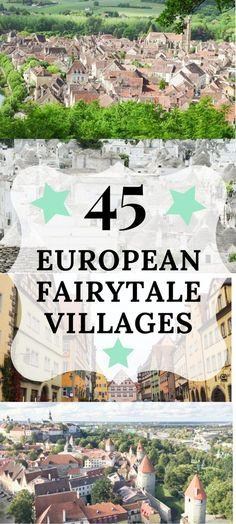 European Fairytale Towns **** Europe | Travel | Magical Europe | historic Europe | Old Europe | Fairytale | Fairytale Europe | European Towns | European cities | Must see European cities | Best European Cities