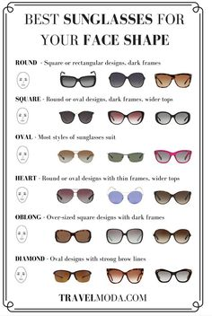 Ray Ban Sunglasses Guide for your face shape...only$9,And I was just thinking I need a new nice pair.