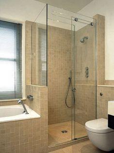 39 Slidding Glass Shower Door Designs For Small Bathroom