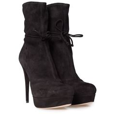 Miu Miu Suede Ankle Boots (1.635 BRL) ❤ liked on Polyvore featuring shoes, boots, ankle booties, suede booties, short boots, bootie boots, suede ankle boots and black boots