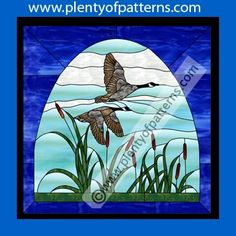 Stained Glass Patterns for Instant Download :: Canada Geese Stained Glass Pattern 2020