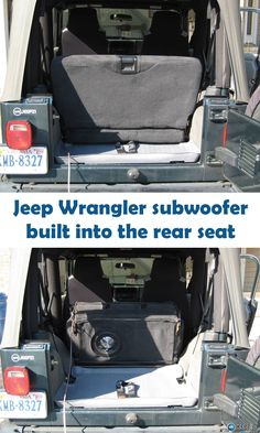 Build a subwoofer enclosure into the backseat of your Jeep Wrangler with this how-to article. You'll get tons of bass without giving up any space.