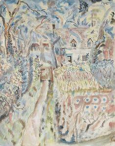 'July Change, Pigotts' by David Jones, 1929 (watercolour) David Jones Artist, Raoul Dufy, Drawing Practice, Modern Artists, Illustration Art, Illustrations, Street Art, British Artists, Drawings