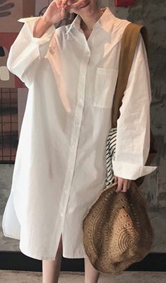 Loose White Linen Quilting Clothes Long Sleeve Love Spring Dresses White Linen Dresses, Cotton Dresses, White Dress, Spring Dresses, Fall Outfits, Quilting, Long Sleeve, Sleeves, Clothes