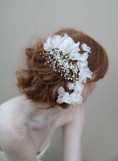 Elizabeth Messina - Fluttering crystal headpiece by Twigs & Honey ®, LLC