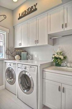 """Check out our web site for even more information on """"laundry room storage diy budget"""". It is actually a great spot to learn more. room storage diy Alape Bucket Sink with Navy Trim Elegant Laundry Room, Mudroom Laundry Room, Laundy Room, Room Storage Diy"""