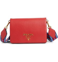 1b1ef5ae1ca0 Free shipping and returns on Prada Vitello Daino Double Compartment Leather Shoulder  Bag at Nordstrom.