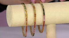 """Princess Cut Colors of Sapphire 7-1/4"""" Tennis Bracelet 14K, 7.00 cttw — QVC.com"""